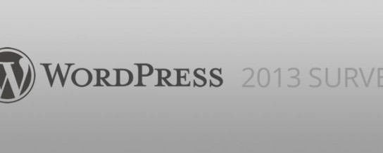 It's time to take the WordPress 2013 survey