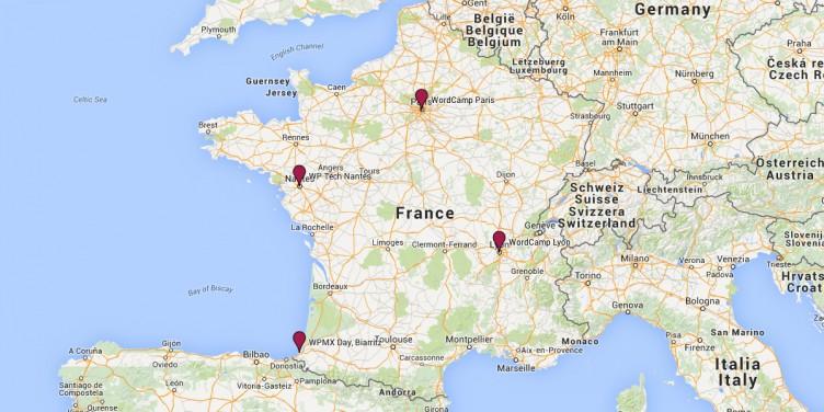 France WordPress Map