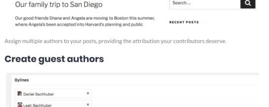 A review of Bylines for multi-author and guest-author posts