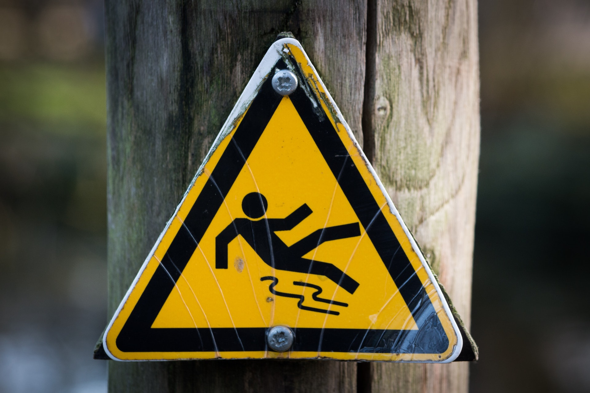Slippery Surface Warning Sign
