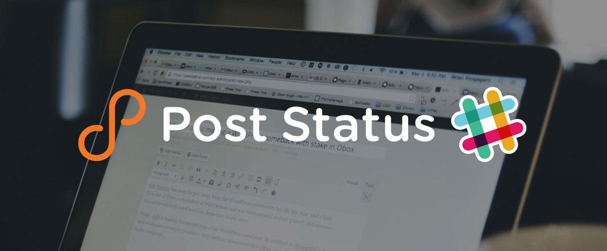 Post Status Slack